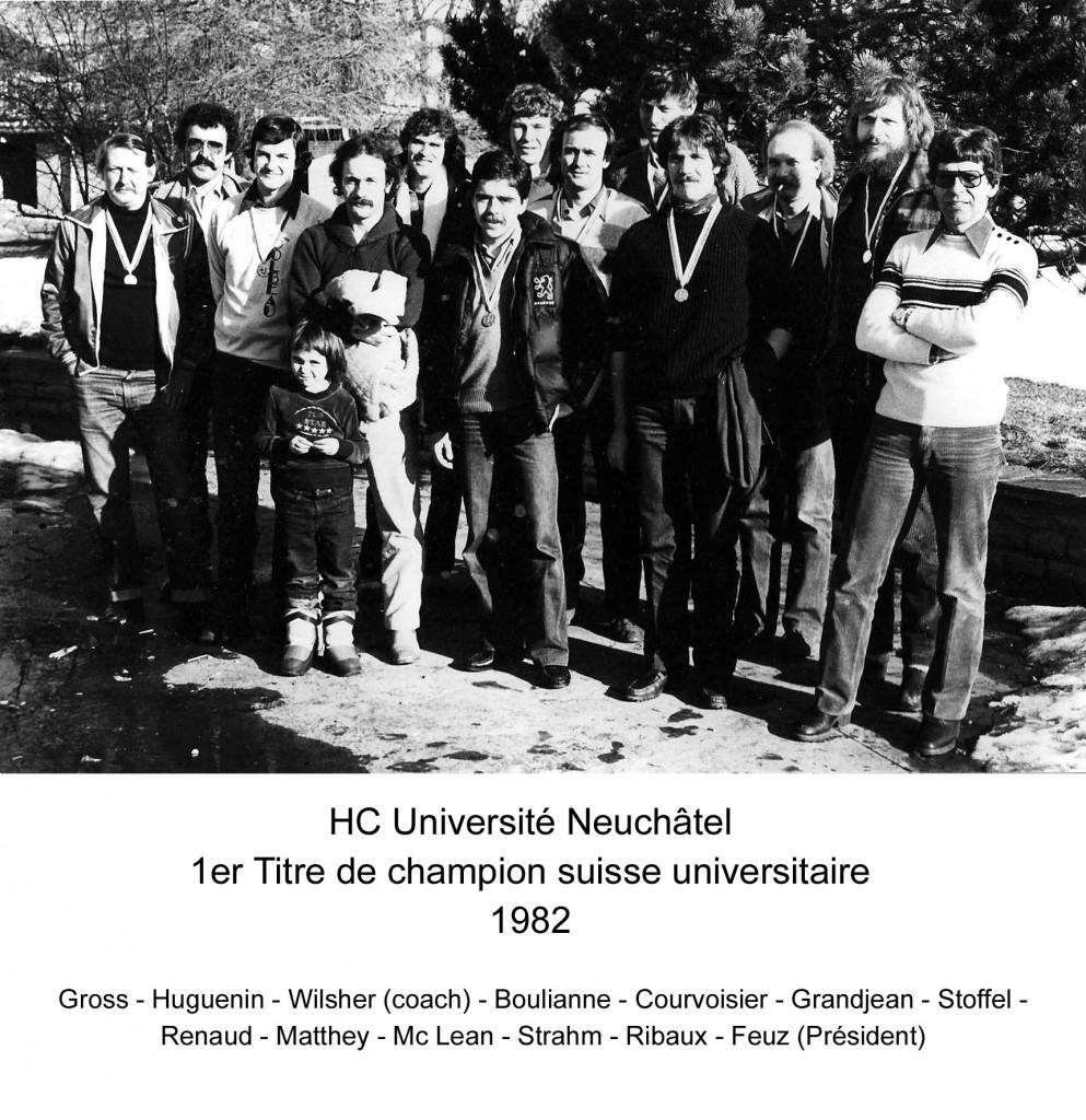 Champion Suisse Universitaire 1982